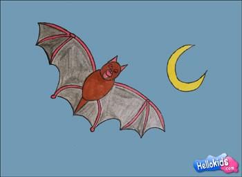 Wie man eine Halloween Fledermaus malt