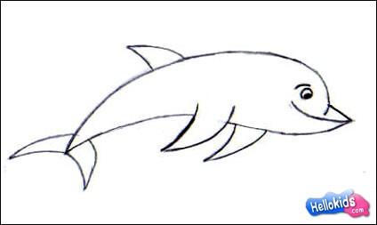Wie man einen glücklichen Delphin malt