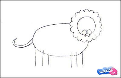 Wie malt man wie man einen l wen malt - Comment dessiner un lion ...