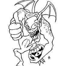 Halloweenmonster zum Ausmalen