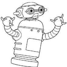 Astro Roboter zum Ausmalen