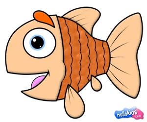 Wie man eine süßen Fisch malt