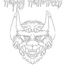 Halloween Werwolf zum Ausmalen