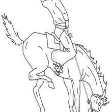 Cowboy und Pferd zum Ausmalen