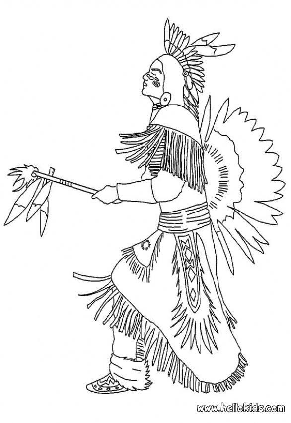 Indianerh uptling zum ausmalen zum ausmalen Coloring book tablecloth