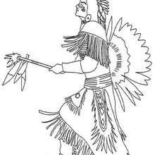 Indianerhäuptling zum Ausmalen