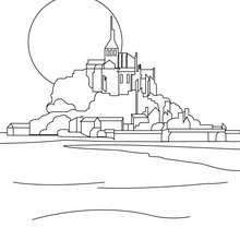 Mont Saint Michel zum Ausmalen