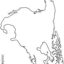 Nordamerikakarte zum Ausmalen
