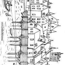 Mittelalterliches Paris zum Ausmalen