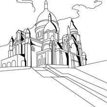 Sacre-Coeur Basilika zum Ausmalen
