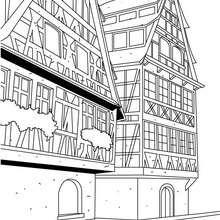 Typisches Strasburger Haus zum Ausmalen