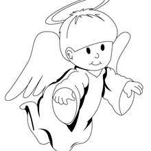 Süßer Engel zum Ausmalen