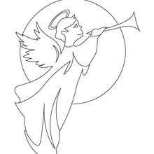 Engel Gabriel zum Ausmalen