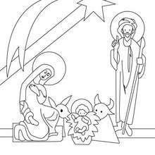 Christi Geburt zum Ausmalen