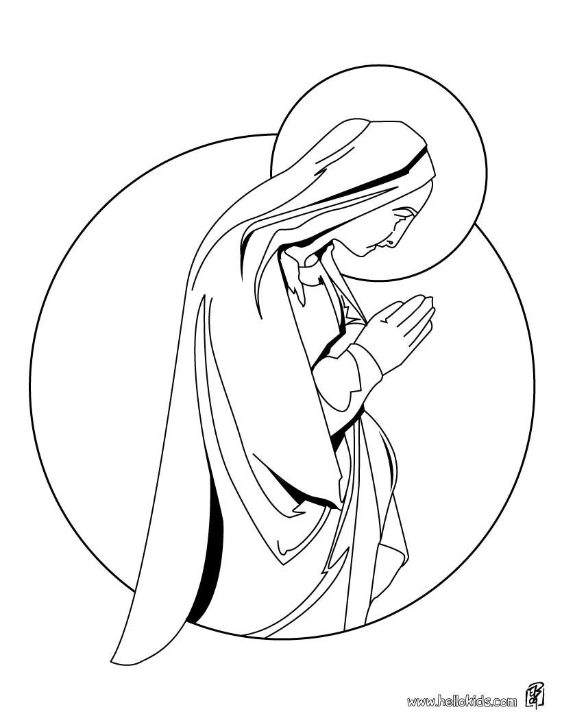 heilige maria ausmalbild  ausmalbilder
