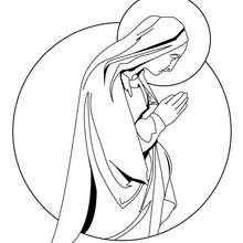 Jungfrau Maria zum Ausmalen