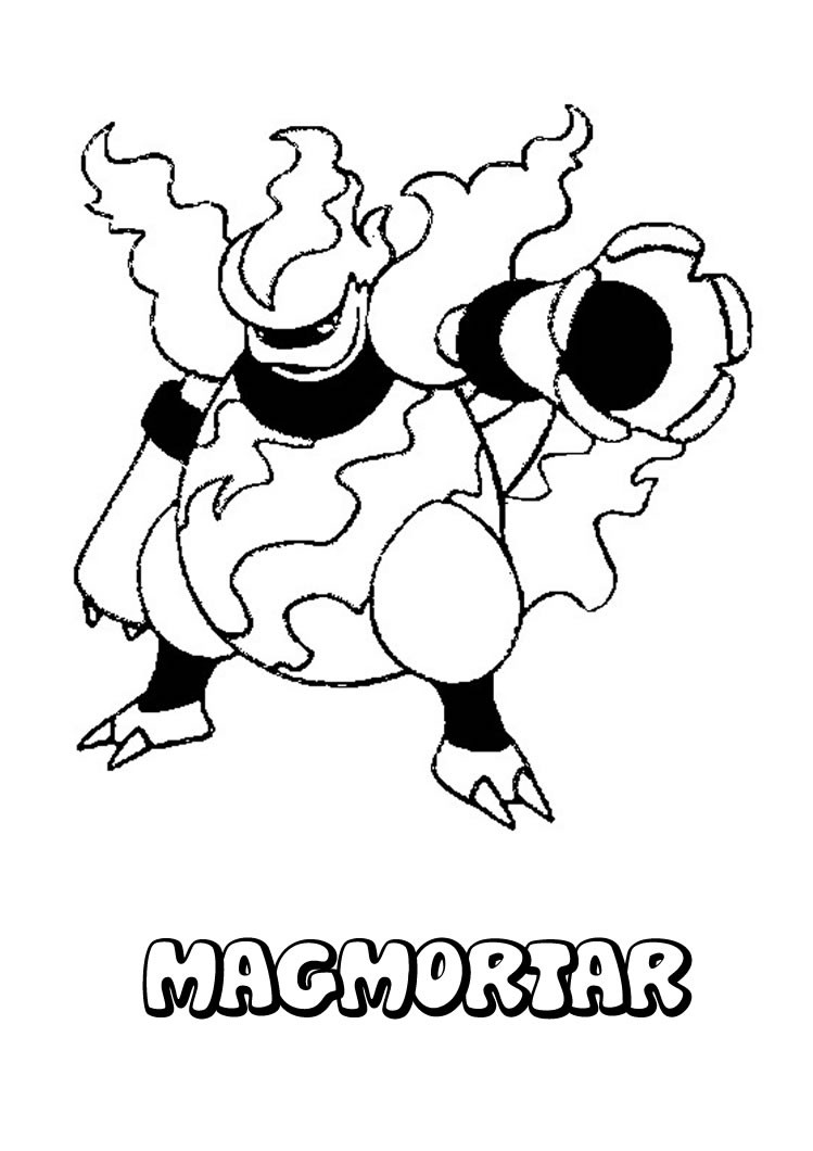 magbrant pokemon zum ausmalen zum ausmalen  dehellokids