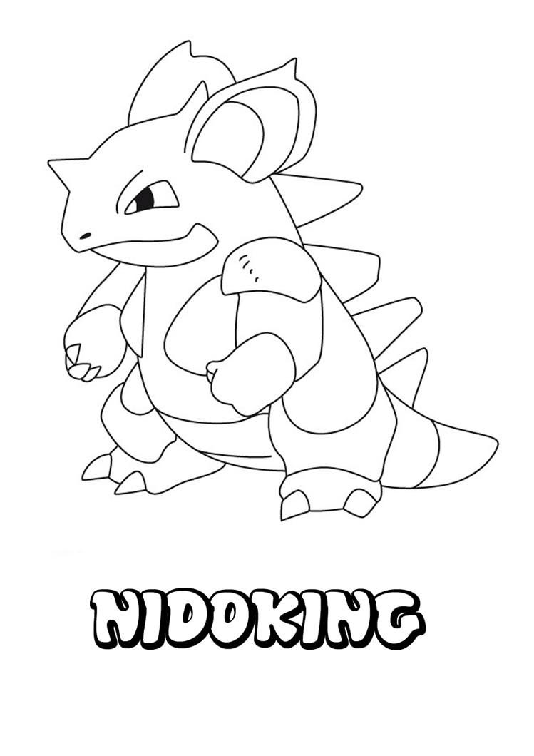 Nidoking Pokemon Zum Ausmalen Zum Ausmalen De Hellokids Com
