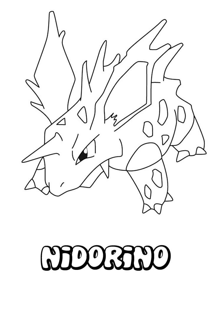 Nidorino Pokemon Zum Ausmalen Zum Ausmalen De Hellokids Com