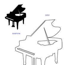 Klavier Übungsblatt zum Ausmalen