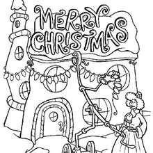 Weihnachtslichter zum Ausmalen