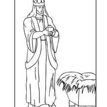 König Melchior zum Ausmalen