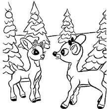 Komet und Rudolph zum Ausmalen