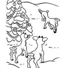 Rudolphs Freunde zum Ausmalen