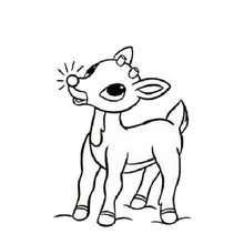 Rudolph das rotnasige Rentier zum Ausmalen