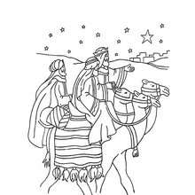 Die Reise der heiligen drei Könige Malbogen