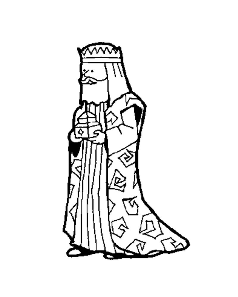 Weiser melchior zum ausmalen zum ausmalen for Wise men coloring pages