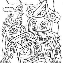 Whoville zum Ausmalen