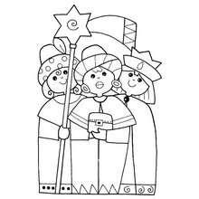 Die heiligen drei Könige zum Ausmalen