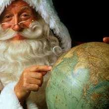 Lächelnder Weihnachtsmann Poster
