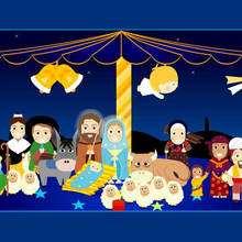 Maria und Jesus Poster