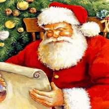 Glücklicher Weihnachtsmann Poster
