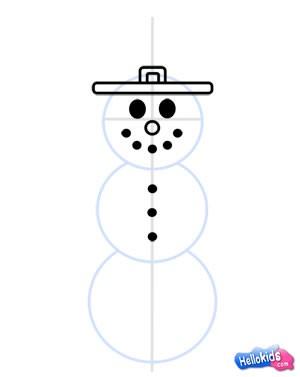 Wie man einen Schneemann malt