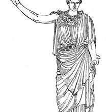 Artemis zum Ausmalen