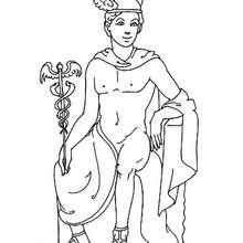 Hermes zum Ausmalen