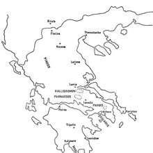 Griechenland Karte zum Ausmalen