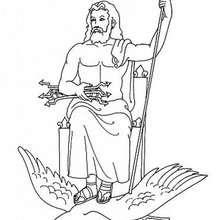 Zeus zum Ausmalen