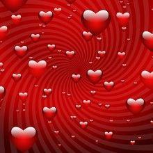 Rote Valentinsherzen Poster