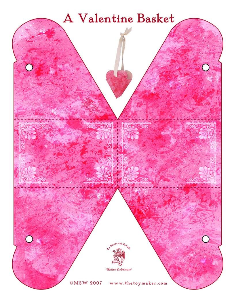 Valentinstag korb Bastelanleitungen - de.hellokids.com