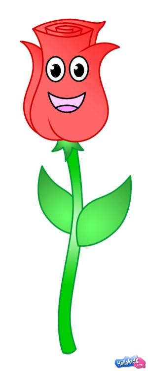 Wie man eine Rose malt