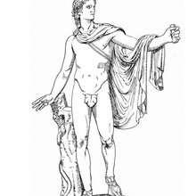 Apollo zum Ausmalen