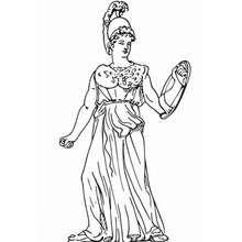 Athena zum Ausmalen