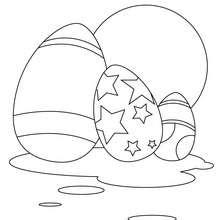 Bemaltes Osterei zum Ausmalen