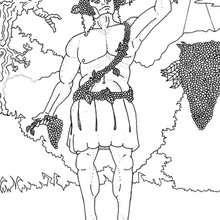Dionysus zum Ausmalen