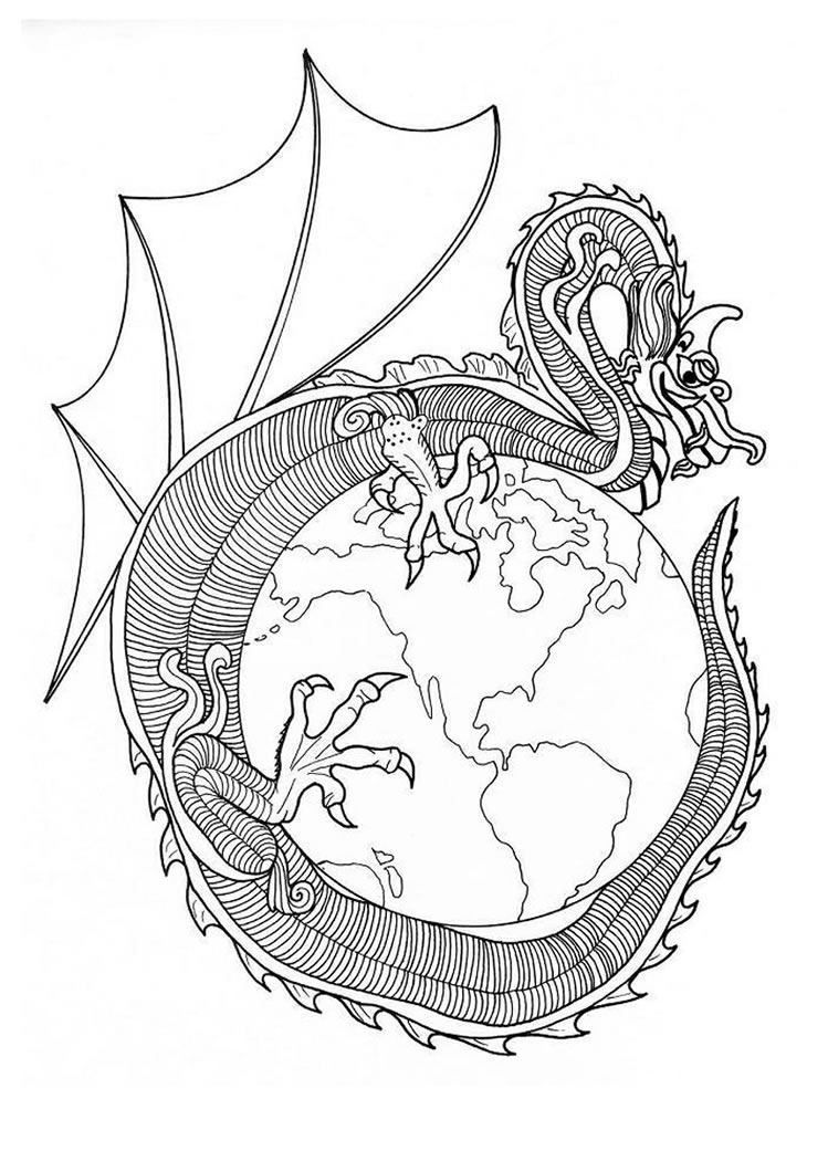 Drachen Mandalas Ausmalbilder Ausmalbilder Ausdrucken De