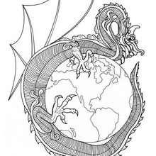 Drachen der Welt Mandala
